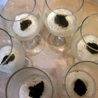 Cauliflower Panna Cotta with Acadian Caviar